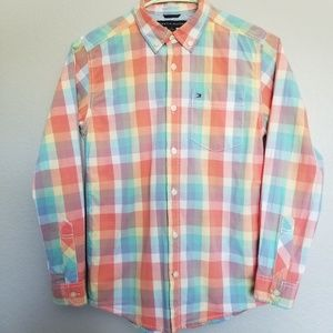 Tommy Hilfiger button down shirt for kids.